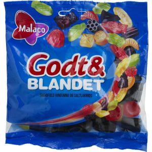 Malaco Godt & Blandet 190g